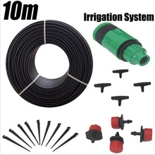 10m Hose 12 Droppers Home Garden Bonsai Flower Drip Irrigation System Patio Misting Cooling System Kits Micro Watering