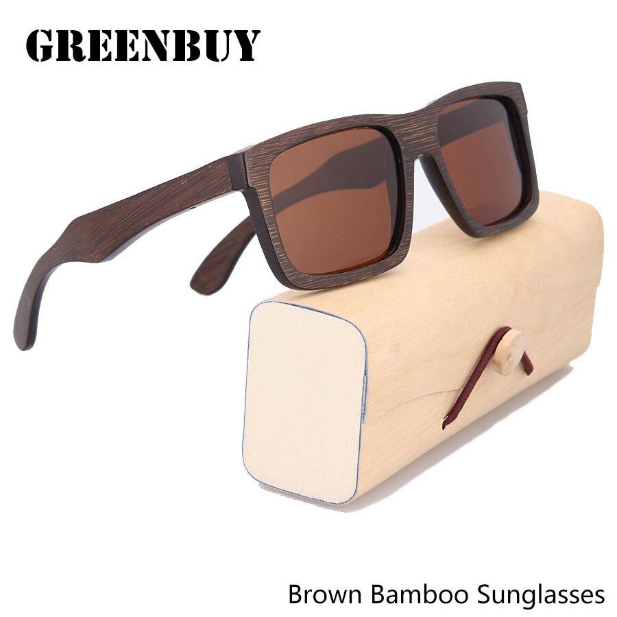 Mens Sunglasses Glasses Polarized Bamboo Wood Eyewear Sunglasses Occhiali da sole uomo UV400 Brown Anti-reflective Glasses<br><br>Aliexpress