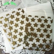 100pcs White & Golden Star Transparent OPP Christmas Wedding Candy Gift Plastic Bags Biscuits Cookie Baking Packaging Bag BZ013(China)