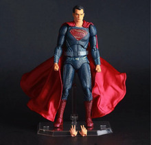 "Free Shipping 6"" DC JLA Movie Superman Man of Steel Super Man Moveable CT Boxed 15cm PVC Action Figure Collection Model Doll Toy(China)"