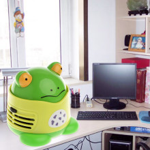 Mini Frog Desktop Coffee Table Vacuum Cleaner Dust Collector for Home Office(China)