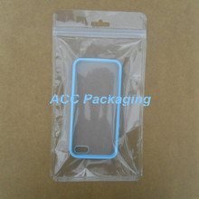 Ziplock Clear Plastic Cell Phone Case Packaging Bag Retail Storage Bag Hang Hole Zipper Zip Lock Phone Accessories Pouches