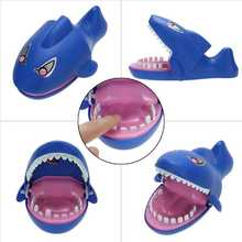 Shark Creative Funny Toy Sound Snapping Family Challenge Game Kids Push Teeth Toy Plastic Shark Bite Finger Toy Children Gifts(China)