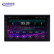 FUNROVER autoradio car Radio 2 Din QuadCore Android Universal Car DVD GPS 16G double din car multimedia Player GPS Navigation