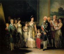 Free shipping 100% hand painted most famous artists painting reproduction goya oil painting Family-of-Carlos