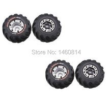 Free shipping HBX 2098B 1/24 4WD Mini Car Spare Parts Left and right tire 4pcs