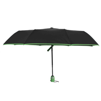 SUSINO Unbreakable Windproof Travel Umbrella Compact Lightweight Automatic Open Close Combination Color Umbrellas 16301AC Green