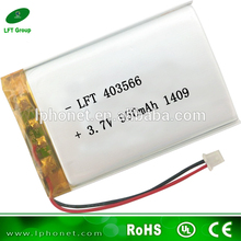 403566 best peice 3.7v 950mah lithium ion /lithium polymer battery for blood pressure(China)