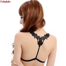 Eshylala-New Sexy Underwear Cross Back Butterfly Bra Shoulder Strap Gorgeous bra straps decorate sexy strap Women Bra part(China)