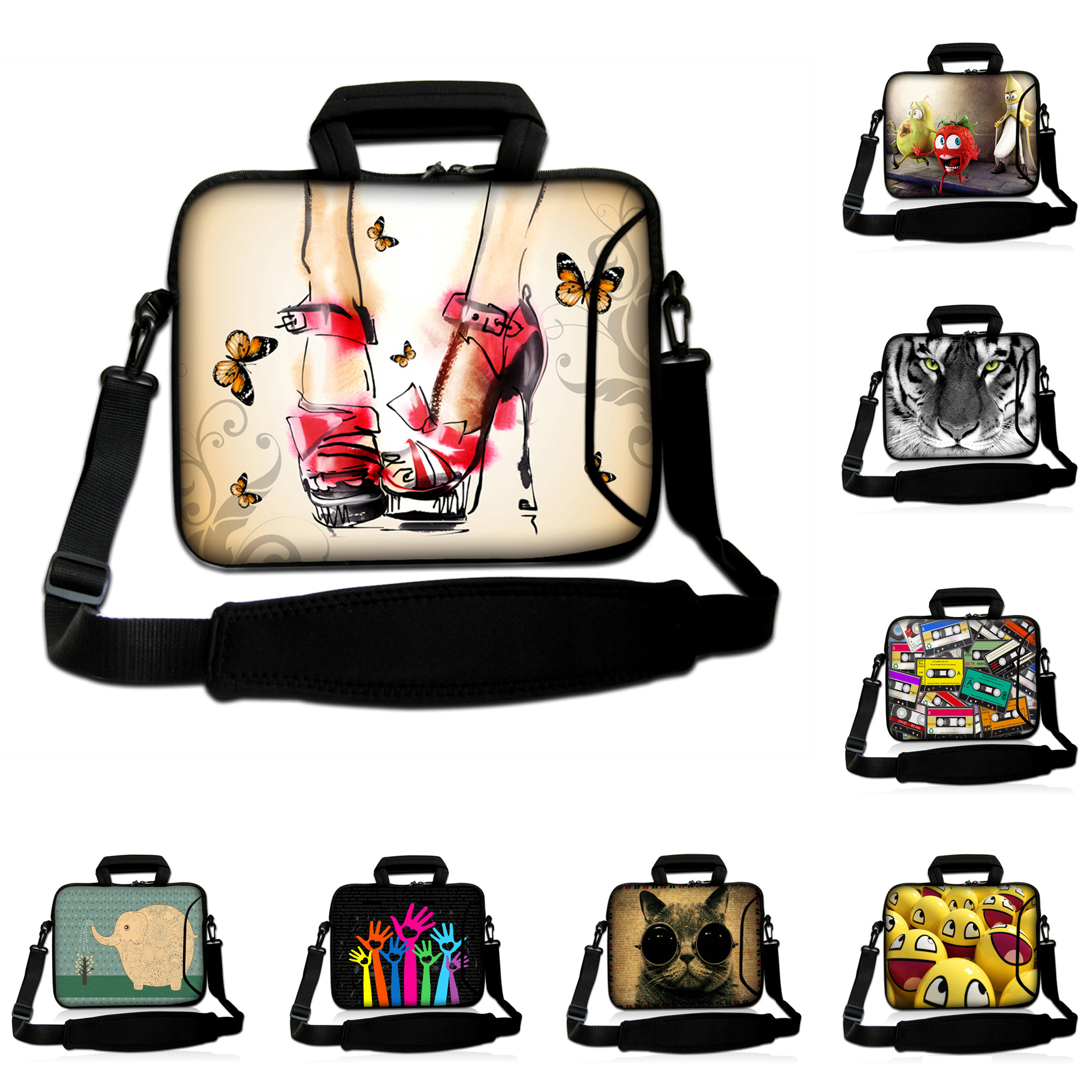 14.1 14 inch Sleeve Notebook Bags 14.4 14.2 inch Shoulder Strap Messenger Laptop Pouch Cover Cases For HP Asus Lenovo Tablet PC<br><br>Aliexpress