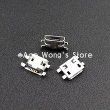 10pcs Micro USB 5pin B type Female Connector Flat Mouth Jack 0.8 Connector For Mobile Phone Charging Socket (USB-4)(China)