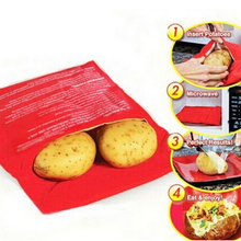 2016 New Red Washable Potato Cooker Bag Microwave Cooking Potato Oven Baked Potatoes In Just 4 Minutes Useful Cooking Tool