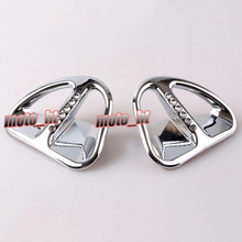 Motorcycle Fairing Martini Air Intake Grills Decoration Bokykits Parts Accessories For Honda Goldwing GL1800 2001-2011 Chrome(China)