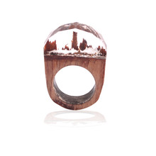 High Quality Wooden Undersea Resin Wood Ring for Women Men Finger Jewelry Beautiful Gift(China)