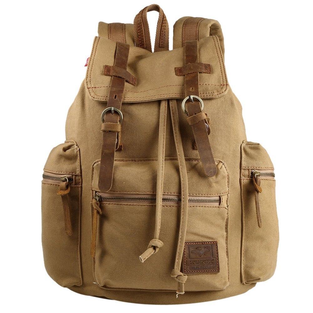 2016 AUGUR Brand Fashion School Backpack for Men Travel Notebook Backpack Laptop Bag 15inch Pattern Backpack for Women Khaki<br>