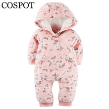 Buy COSPOT 2018 Limited Sale Infant Bebes Hooded Jumpsuit Fashion Long Sleeved Spring Fleece Baby Girls Baby Boys Newborn Romper 40F for $10.40 in AliExpress store