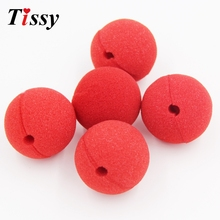 20PCS Wholesale Price Red Nose Foam Circus Clown Nose For Comic Party Supplies Halloween Decorations(China)