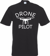 High Quality Unmanned Pilot Quadcopter Unmanned Pilot Funny Gift Controller Flyer T Shirt Tee Shirt Manufacturer(China)