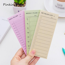 30 Sheets New Desk Weekly Daily Planner Cartoon Sticky Notes Stickers Post It Paper Korean Stationery To Do List Office Supplies(China)