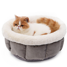 New Cat Bed Super Soft Material Pure Color Pet Kennel 4 Colors Nice Quality Short Plush White Dog Bed Puppy Sleeping Warm Kennel(China)