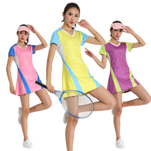 New Summer Dresses Tennis Badminton Quick Dry Breathable Culottes Tennis Dress Sportswear