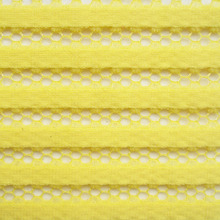 New Fashion French High Quality Polyester Knitted Fabric White Striped Honeycomb Apparel Black Mesh Fabric Yellow Sewing Cloth