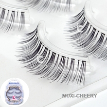 ICYCHEER New 3pairs 3D Makeup False Eyelashes Eye Lashes Clear Band Natural Handmade Black(China)