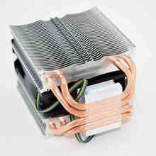 For Intel AMD platform 1155/1150/AM3 Desktops Computer CPU 4 copper heat pipes Cooler heat sink fin fan quiet Radiator 4pin