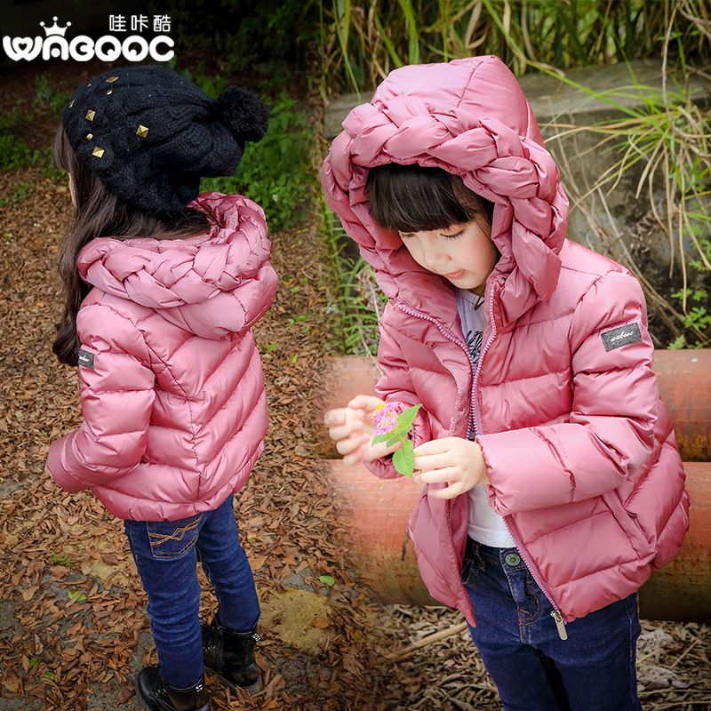 2017 Children Winter Girl down jackets Parkas Hooded infant down jacket Kids Down Jackets Girls Snow Wear Onfant Coat Overcoat<br>