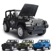 1:32 free shipping army jeep Alloy Diecast Car Model Pull Back Toy Car model Electronic Car with light&sound Kids Toys Gift
