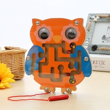 Baby Educational Maze Toys Cartoon Animal Magnetic Maze Series Intellectual Games Small Pen Labyrinth Puzzle Toy Learning Toy(China)