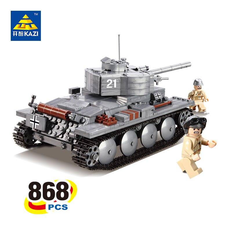 KAZI PZKPFW-II Tank Blocks Model Brinquedos Gift Educational Toys Military Bricks for Children 6+ Ages 868pcs 82009<br>