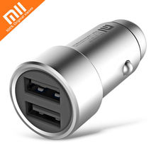 Original Xiaomi Car Charger Fast Charging with Dual USB Ports 12-24V Input 2.4A Output for Xiaomi Samsung iPhone iPad ETC(China)