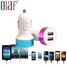 High Quality Car Charger 2-port USB 3.1 Amp High Speed Charging Car Charger for iPhone5 5S 6 plus Samsung Mobilephone Tablet GPS