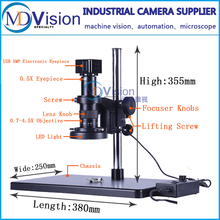 HD USB Microscope 5 Megapixel Industrial Inspection Connect Microscope To Computer(China)