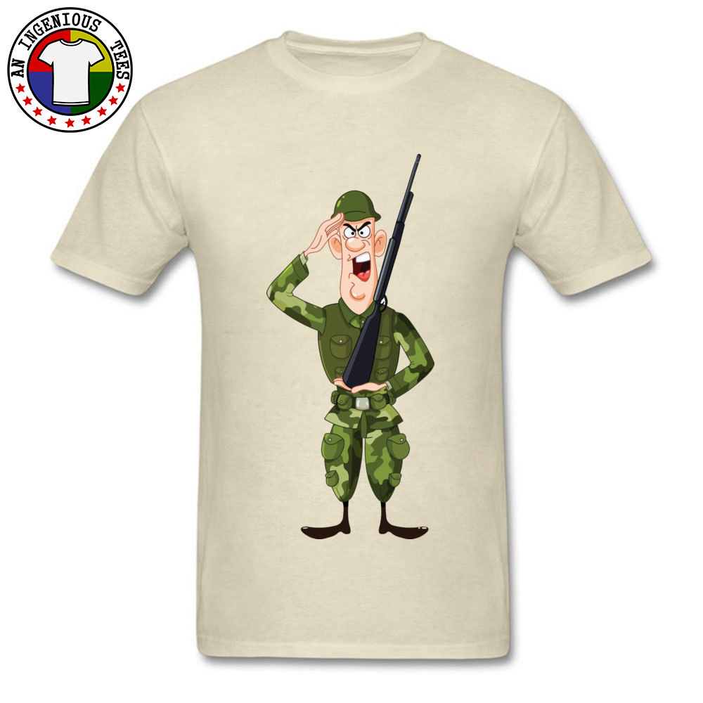 Soldier Salute Royalty Crewneck Top T-shirts Autumn Tees Short Sleeve Hip Hop Pure Cotton Design Tee Shirt Normal Men Soldier Salute Royalty beige