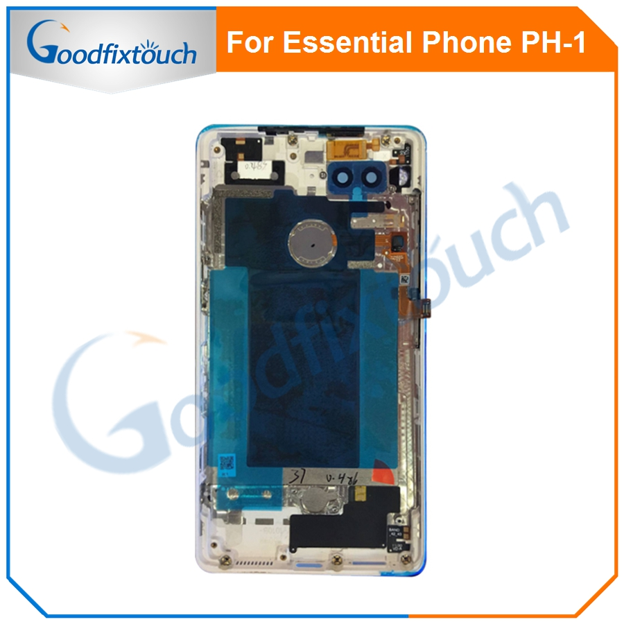 For Essential Phone Ph-1 PH 1 Rear Back Battery Cover Door Ceramics Glass Housing With Fingerprint Camera Glass Raplacement Part (11)