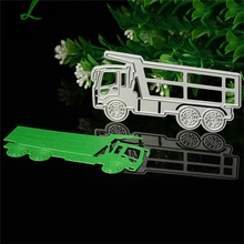 Lorry Truck Car Cutting Dies Stencil mold DIY Scrapbooking Embossing Album Paper Card Classeur De Gaufrage Cutting dies LQW2207(China)