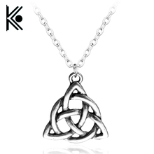 Viking Triquetra Trinity Knot Norse Necklace Irish Scandinavian Pewter Pendant Men's Pewter Pendant Necklace(China)