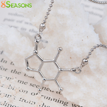"8SEASONS New Fashion Chemistry Science Necklace Cell Connector Ball Chain Silver Tone Color 51.0cm(20 1/8"") long, 1 Piece"