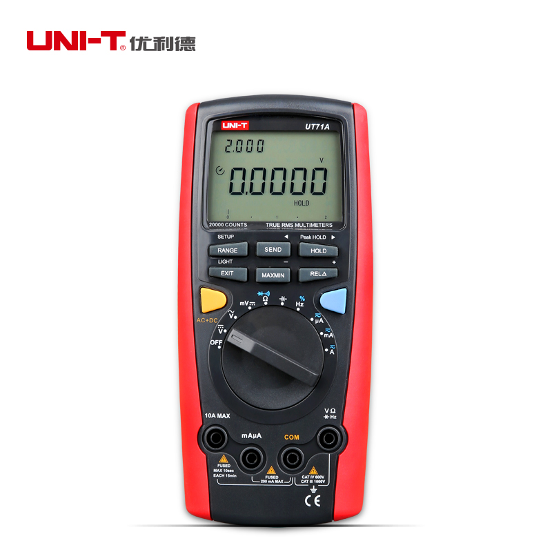 UNI-T UT71A Intelligent True RMS Digital Multimeter AC/DC Current Voltage Resistance Capatitance Frequency Tester<br><br>Aliexpress