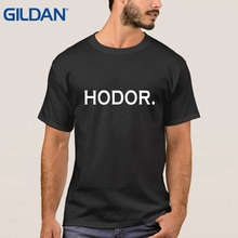 Top 2017 Ali T Shirts China Hodor Hodor Stark Black Tee Shirts Men Simple(China)