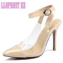 Lloprost ke Nude slingbacks summer LADY PUMPS EUR size 42 43 44 45 46 47 elegant style lady shoes high quality PU leather JT255