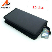 A Ausuky NEW Portable 80 Disc holder organizer Large Capacity DVD CD Case for Car Media Storage CD Bag -20(China)
