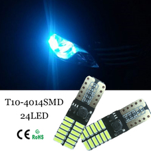 10pcs T10 W5W 24 LED Parking Lights Sidelight No Error For Mercedes Benz w202 w220 w204 w203 w210 w124 w211 w222 x204 w164