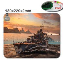 Wholesale Print  Non-slip world of warship 180mmx220mmx2mm  Choose custom gaming mouse The fashion design Mouse Pad Mousepad