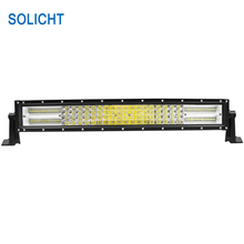 SOLICHT Straight 22 inch 120W Off road LED Light Bar Combo 4x4 Car Styling Fog Driving Lamp 12V 24V Quad Row LED ljusramp(China)
