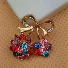 Free Shipping 10PCS Colorful Crystal Rhinestones Alloy Cherry Button Patch Sticker Fit for Girls Phone Case Hair Bow Center DIY