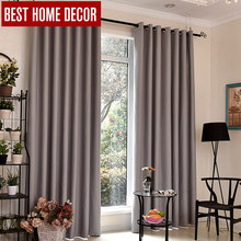 BHD modern blackout curtains for window treatment blinds finished drapes window blackout curtains for living room the bedroom(China)