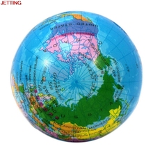 JETTING 1Pc Hot World Map Foam Earth Globe Hand Wrist Exercise Stress Relief Squeeze Soft Foam Ball Toy Wholesale And Retail